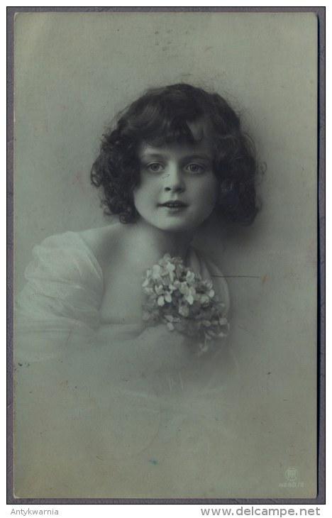 PETITE FILLE - LITTLE GIRL - Mädchen  - Jolie Carte Fantaisie  1913y.   378q - Retratos