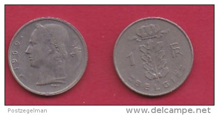 BELGIUM, 1969, 2 Circulated Coins Of 1 Franc, Dutch, Copper Nickel, KM 143.1,  C3113 - 1951-1993: Baudouin I