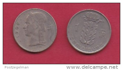 BELGIUM, 1960, 2 Circulated Coins Of 1 Franc, French, Copper Nickel, KM 142.1,  C3145 - 1951-1993: Baudouin I