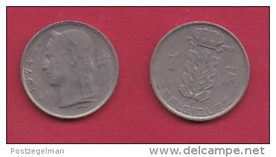 BELGIUM, 1974, 2 Circulated Coins Of 1 Franc, French, Copper Nickel, KM 142.1,  C3153 - 1951-1993: Baudouin I