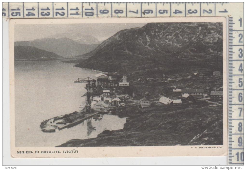 GROENLANDIA GRONLAND IVIGTUT MINE Cryolite MINIERA DI CRYOLITE - Groenlandia