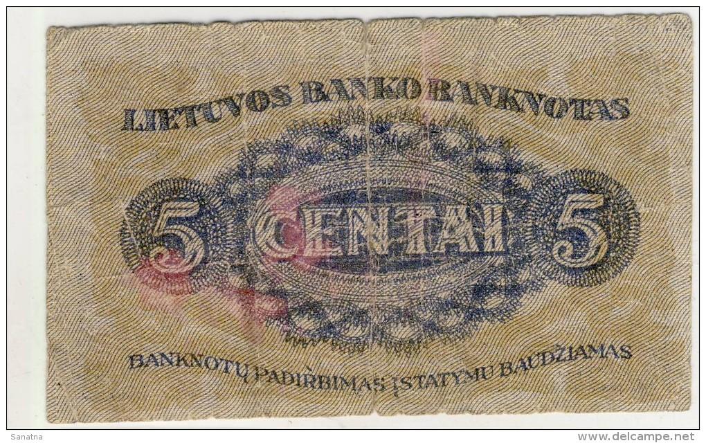 Del-01 004 5 Centai Kaunas 1922  Lapkricio  16 D Shipping Free - Lituanie