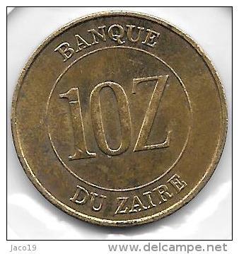 10 Zaires 1988 - Congo (République 1960)