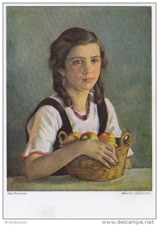 Künstler AK:Max Rimboeck - Mädchen Mit Früchten - Karte Nicht Gel. - Künstlerkarten