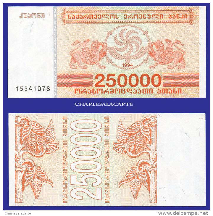 1994 GEORGIA  250 000 LARIS  GRIFFINS  GRAPES & VINES  SERIAL No....078  KRAUSE 50 UNC. CONDITION - Géorgie