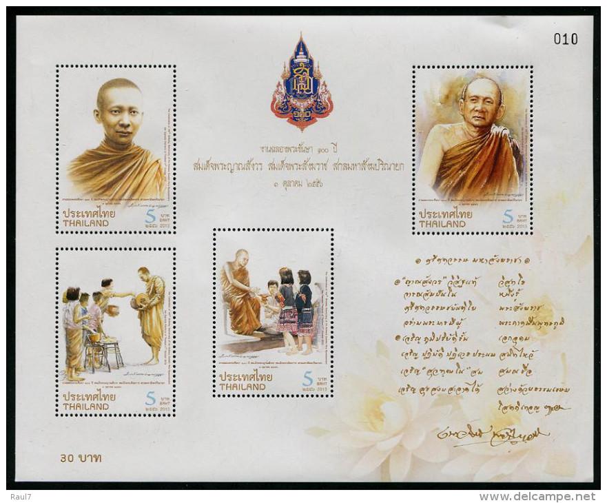 THAÏLANDE 2013 - Phra Nyanasamvara, Moines - BF Neufs // Mnh - Thailand