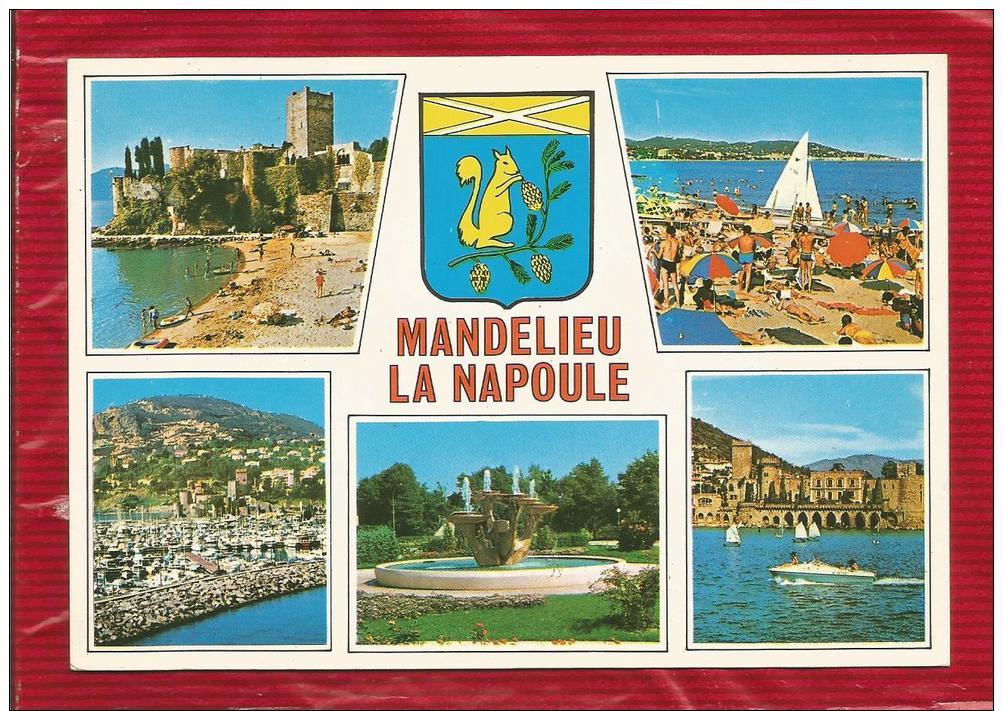 MANDELIEU LA NAPOULE  - Dépt 06 - Multivues - Blason -  CPSM - - France