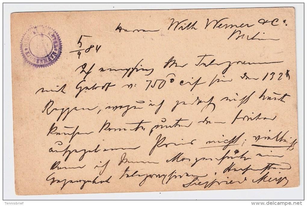 Dänemark, 1884, Ausland GA Mit Zusatzfrankatur , #4139 - Briefe U. Dokumente