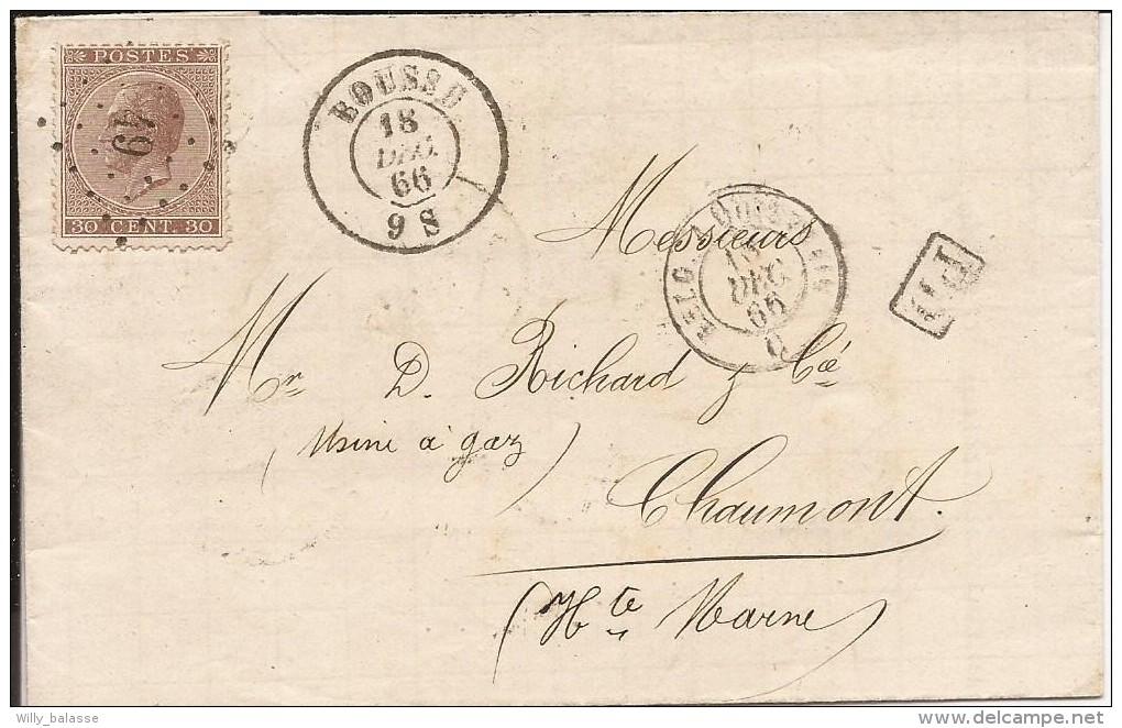 L. Affr. N°19 Lpts 49 BOUSSU/1866 Pour La France. TTB - 1865-1866 Profil Gauche