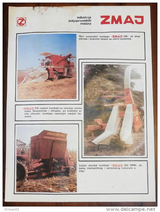 ZMAJ Harvester & Tractor Industry (Serbia) Yugoslavia / Combine Combiner AGRO Tractor, Tracteur Traktor - Tracteurs