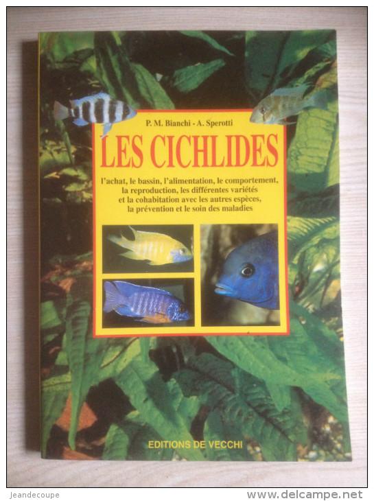- Livre- Aquarium - Poissons - Cichlidés - éd De Vecchi - 1998 - - Aquaristik