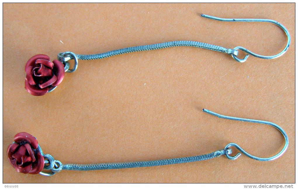 Superbe  Boucle D'oreilles Artisanale (ROSES) - Earrings