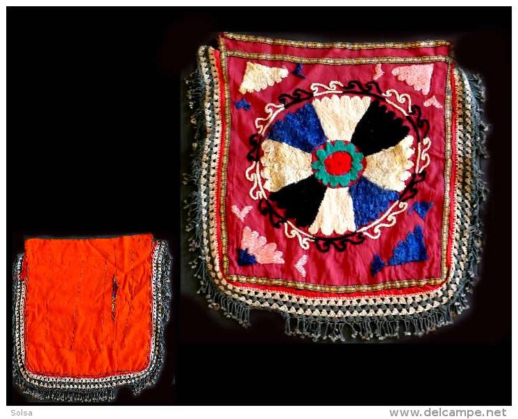 Ancien SUZANI Ouzbekh / Old Uzbek Suzani Textile Wall Ornament - Art Asiatique