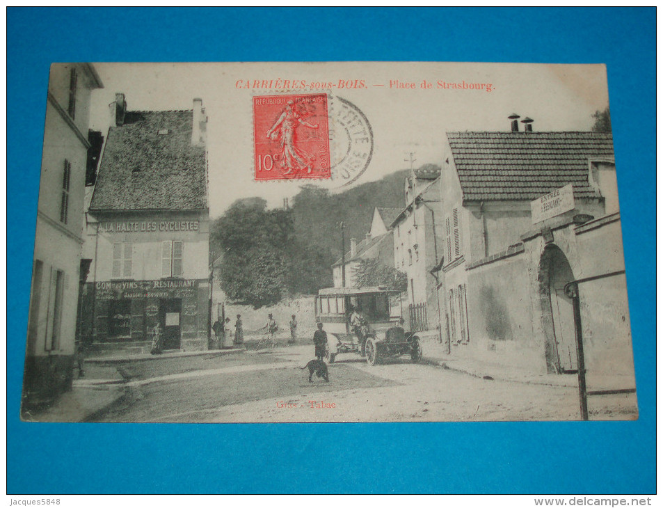 """78 ) Carrières-sous-bois - Place De Strasbourg """" L'autobus - Cars - Année  : EDIT : Gras - Autres Communes"""