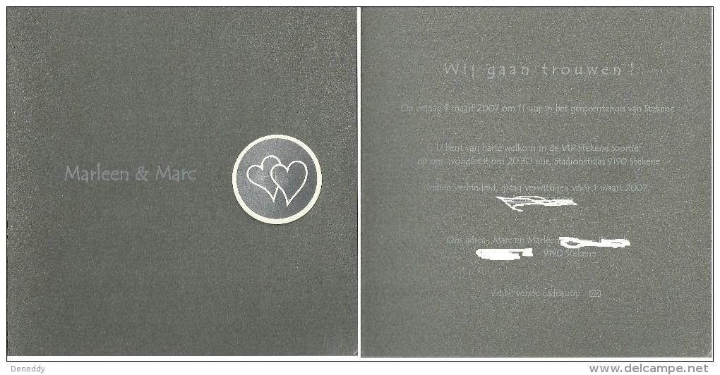 Huwelijksaankondiging 9 Maart 2007 Stekene. - Boda