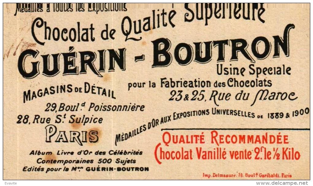 Chromo  Chocolat Guérin-Boutron - 277 MASSENET - Album Livre D'Or Des Célébrités Contemporaines 500 Sujets - - Guerin Boutron