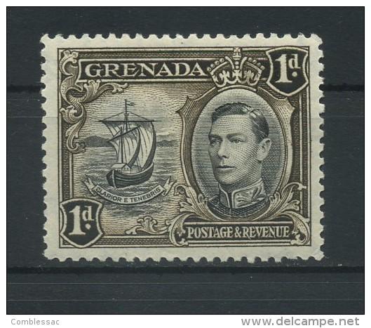 GRENADA   1938     1d  Black  And  Sepia     Perf  12 1/2         MH - Grenada (...-1974)