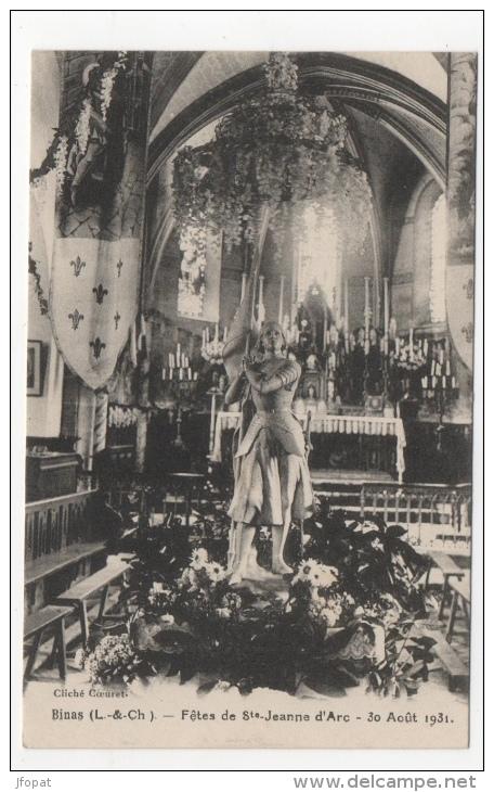 41 LOIR ET CHER - BINAS Fêtes De Ste Jeanne D´Arc, 30 Août 1931 (voir Descriptif) - Francia