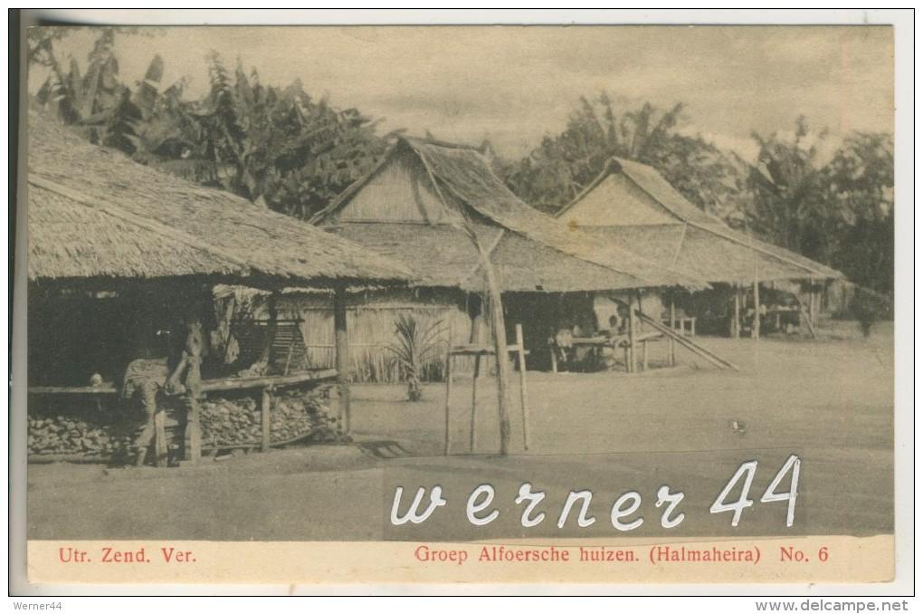 Utr. Zend. Ver V.1906 Hütten -- Groep Alfoersche Huizen (Halmaheira)(13478) - Südafrika