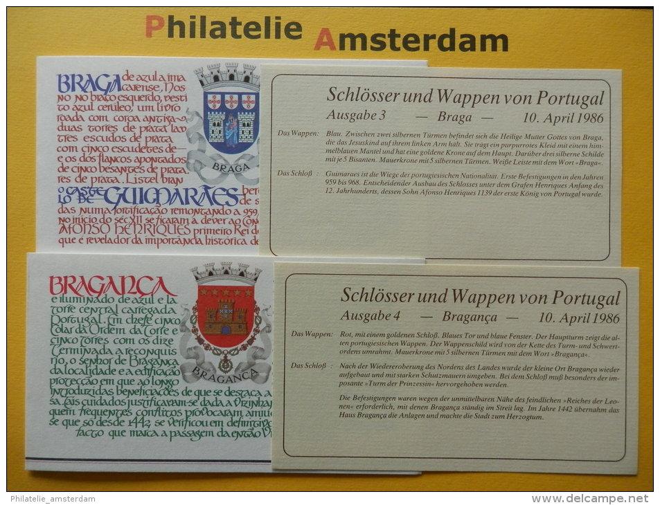 Portugal 1986, CASTLES CHATEAUX KASTELEN BURCHTEN SCHLOSS CASTELLO: Mi 1688-89, ** - (BK) - Schlösser U. Burgen