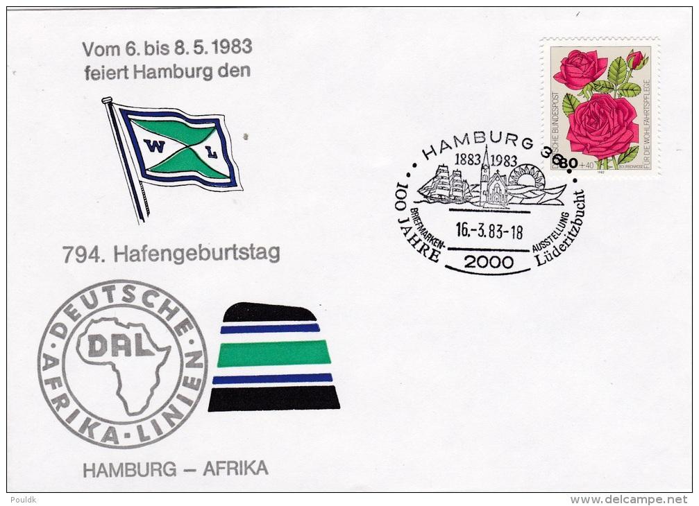 Ships: Germany Cover P/m Hamburg 1983 Hafen Geburtstag (G33-31) - Ships