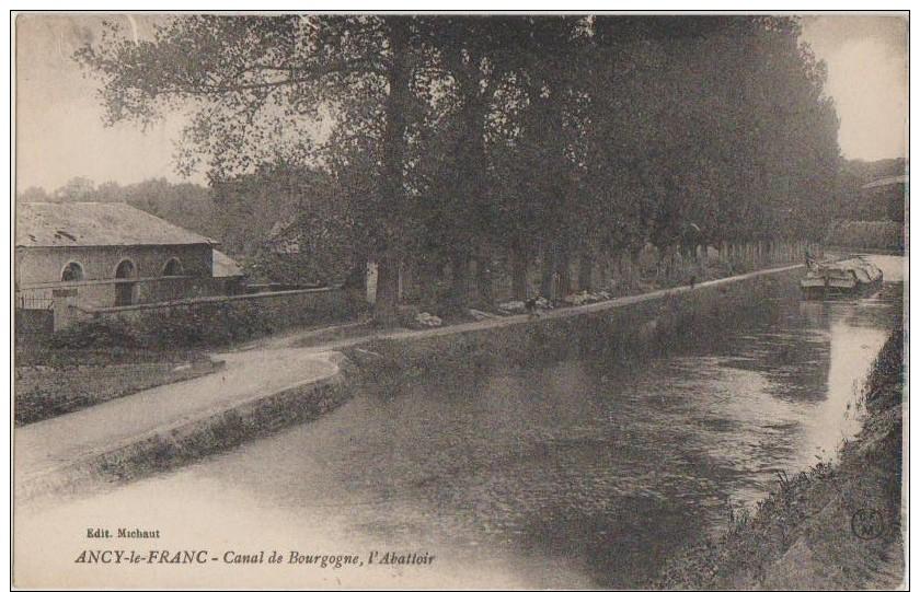 CPA 89 ANCY LE FRANC Canal De Bourgogne Abattoir 1924 - Ancy Le Franc