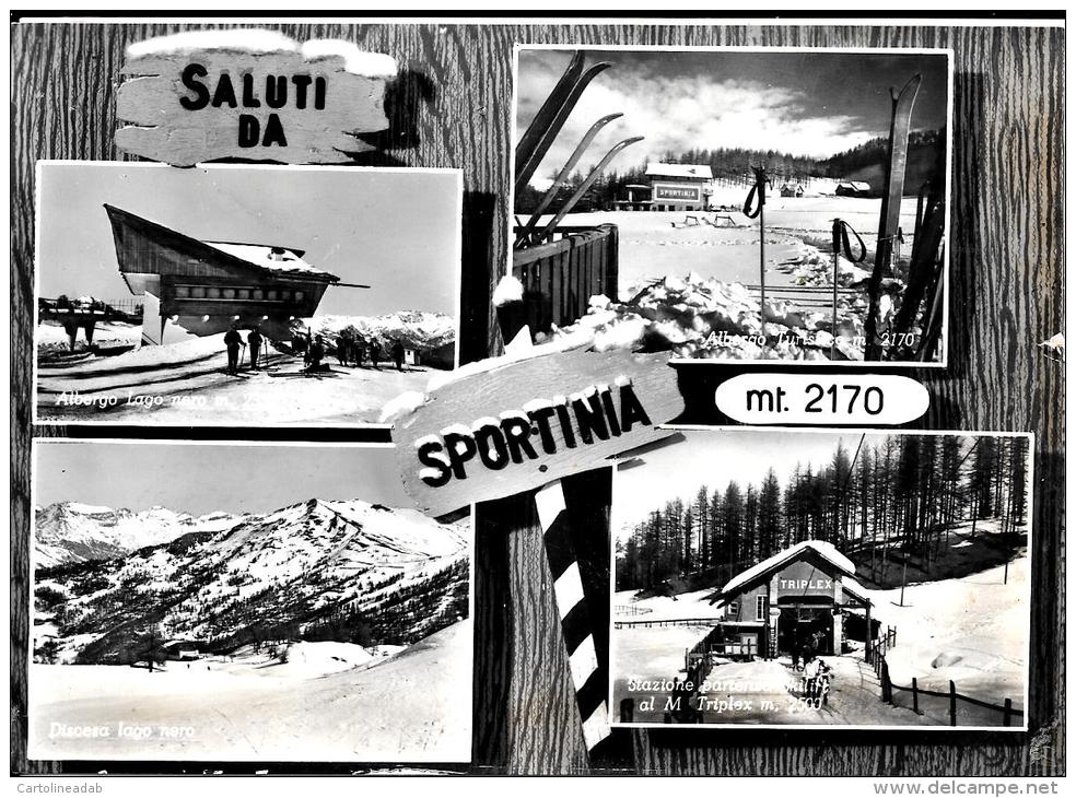[DC4430] CARTOLINA - SAUZE D'OULX - SPORTINIA - SALUTI DA - Viaggiata 1957 - Old Postcard - Non Classificati
