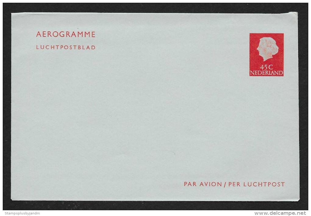 NETHERLANDS Aerogramme 45c Queen Unused C1960s STK#X20740 - Postal Stationery