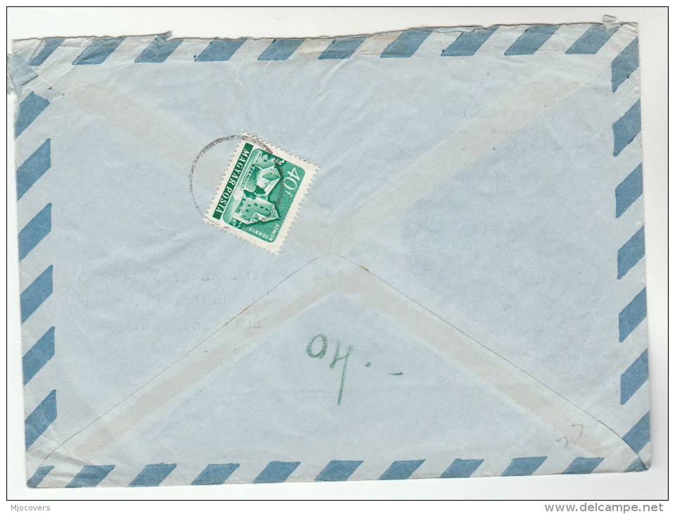1964 Air Mail HUNGARY COVER  Stamps Tokyo OLYMPICS ATHLETICS FRUIT BRIDGE BOAT To Canada Sport Olympic Games Food - Summer 1964: Tokyo