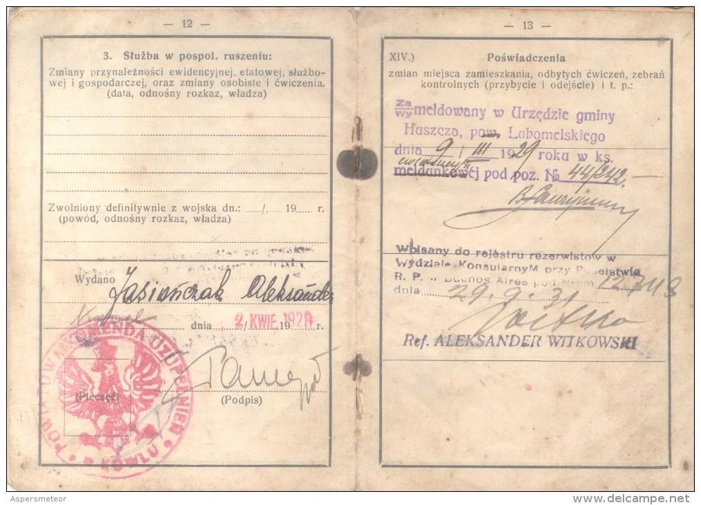 PASAPORTE POLACO 1904 - POLISH PASSPORT PASSEPORT PASSAPORTO - Documents Historiques