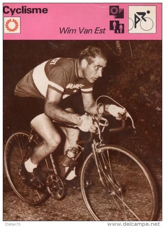 SPORTS  ** CYCLISME  **  WIM VAN EST - Cyclisme