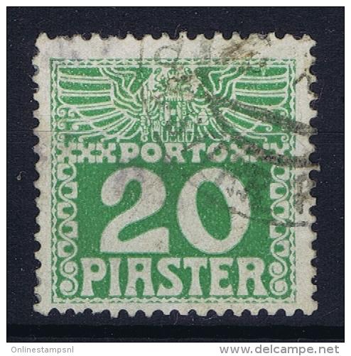Austria Levante  Porto Mi Nr 13 Ya Dunnes Papier  0.1 Mm Gestempelt/used/obl. - Levante-Marken