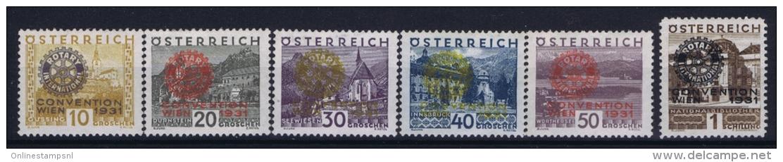 Austria Mi Nr 518 - 523 MNH/** Sans Charnière  Postfrisch  Rotary - 1850-1918 Imperium