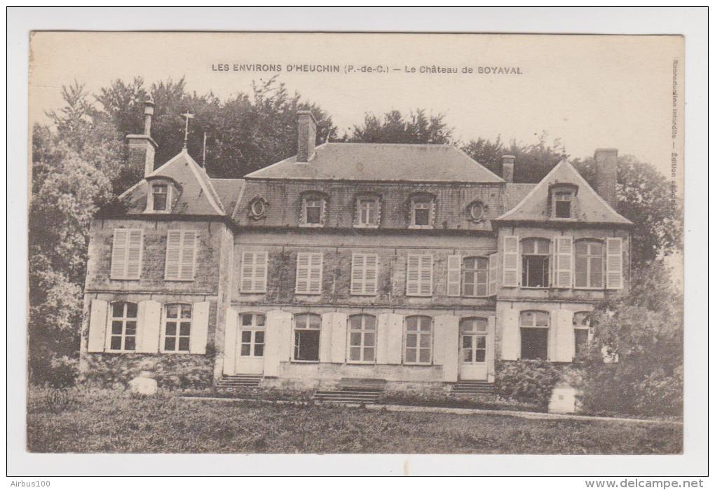 62 - ENVIRONS D'HEUCHIN LE CHATEAU DE BOYAVAL - 2 Scans - - Frankrijk