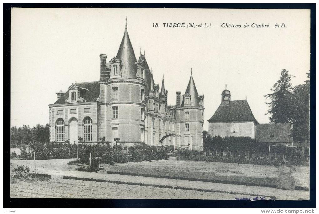 Cpa Du 49 Tierce -- Château De Cimbré (2)   PAR14 - Tierce