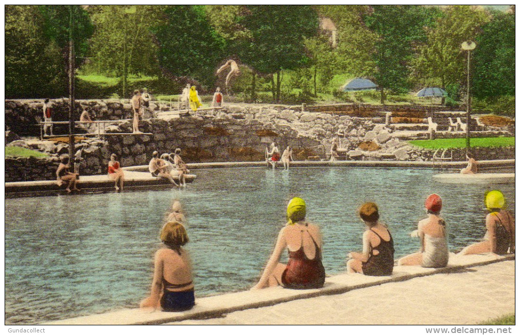 The Outdoor Olympic Size Pool,  Buck Hill Falls, A Popular Fun Center - Other