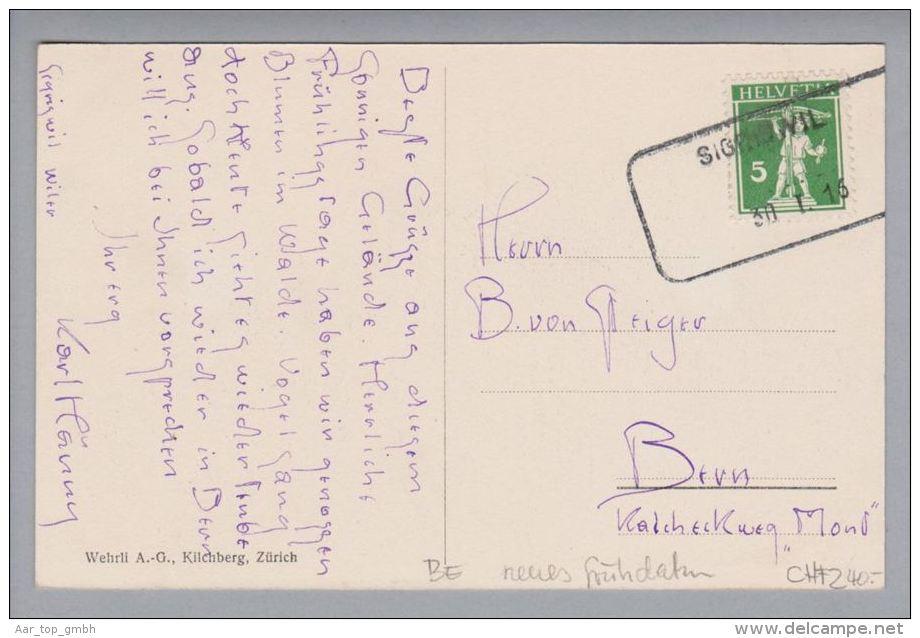 Heimat BE Sigriswil 1916-01-30 Aushilfsstempel Neues Frühdatum Auf AK Nach Bern - Suisse