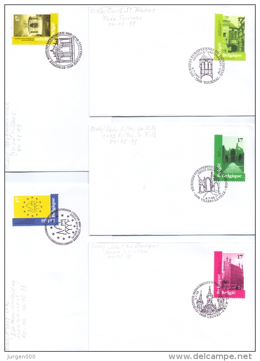 België - Europese Monumentendagen - FDC's - 4/7/1998  (RM9786) - Holidays & Tourism
