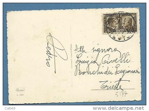 1941 - LA MODA IN MONTAGNA  - VIAGGIATA CON 10 C. DUE POPOLI UNA GUERRA.... - Moda