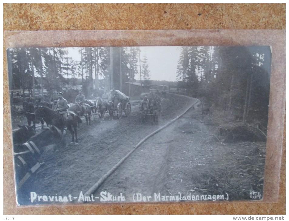 CARTE PHOTO PROVIANT AMT SKURB  MARMELADENWAGEN   1916 RARE - Autres Communes