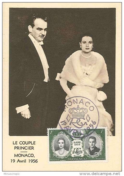 CM Monaco - Le Couple Princier - 1956 - Maximumkarten (MC)