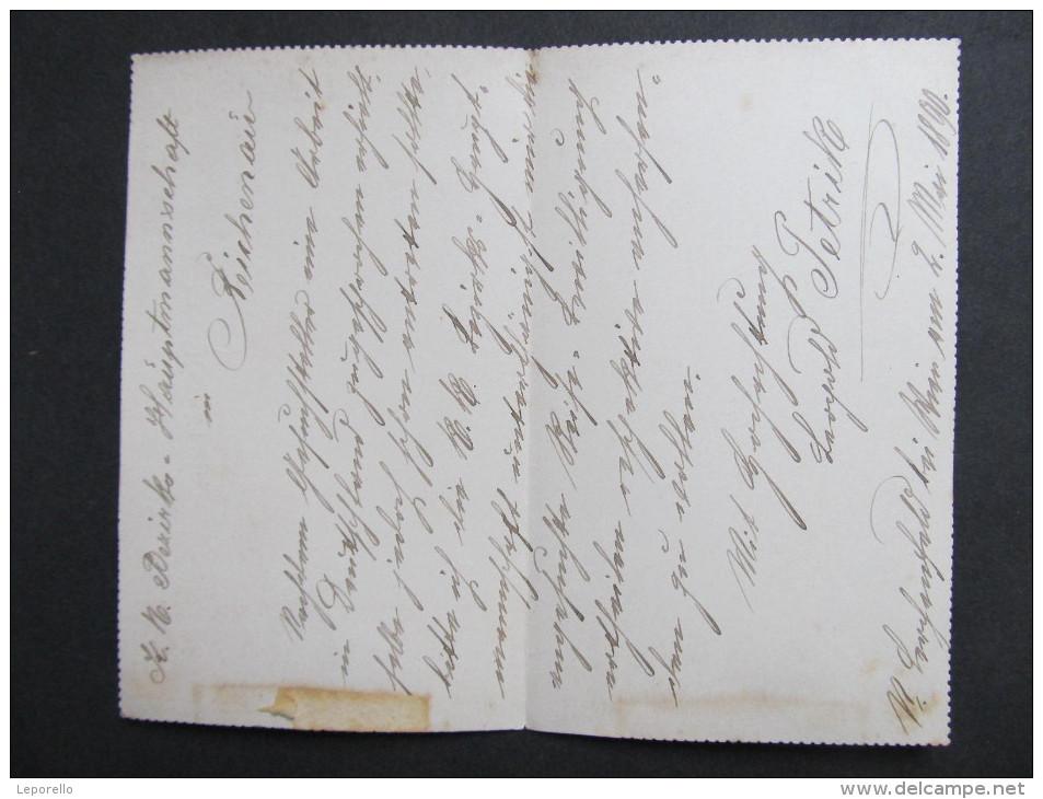 GANZSACHE Kartenbrief Neulerchenfeld - Reichenau A.K. 1890  //// D*18240 - Briefe U. Dokumente