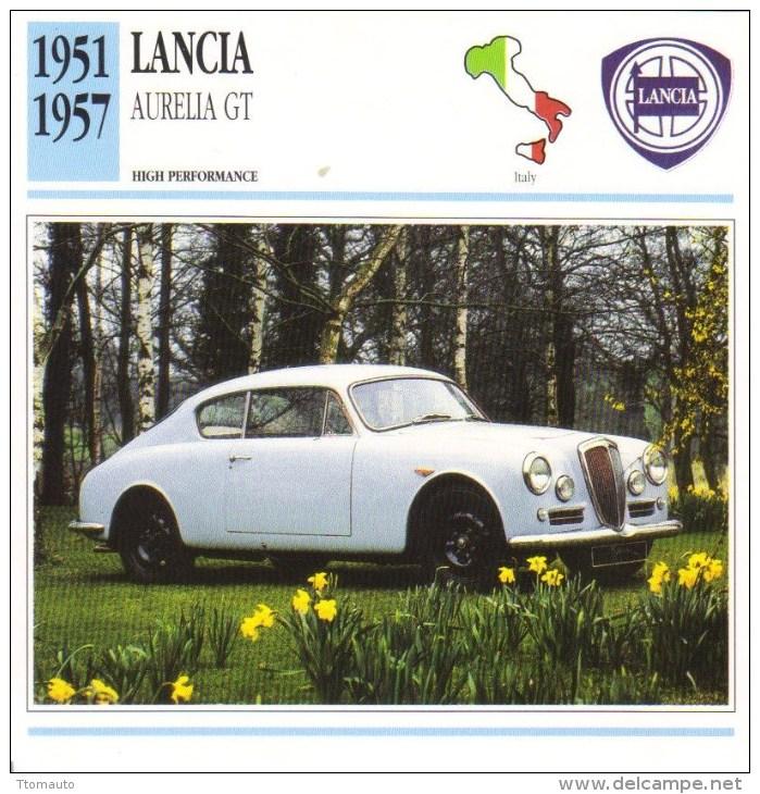 Lancia Aurelia GT -  1951  -  Fiche Technique Automobile (Italie) - Voitures