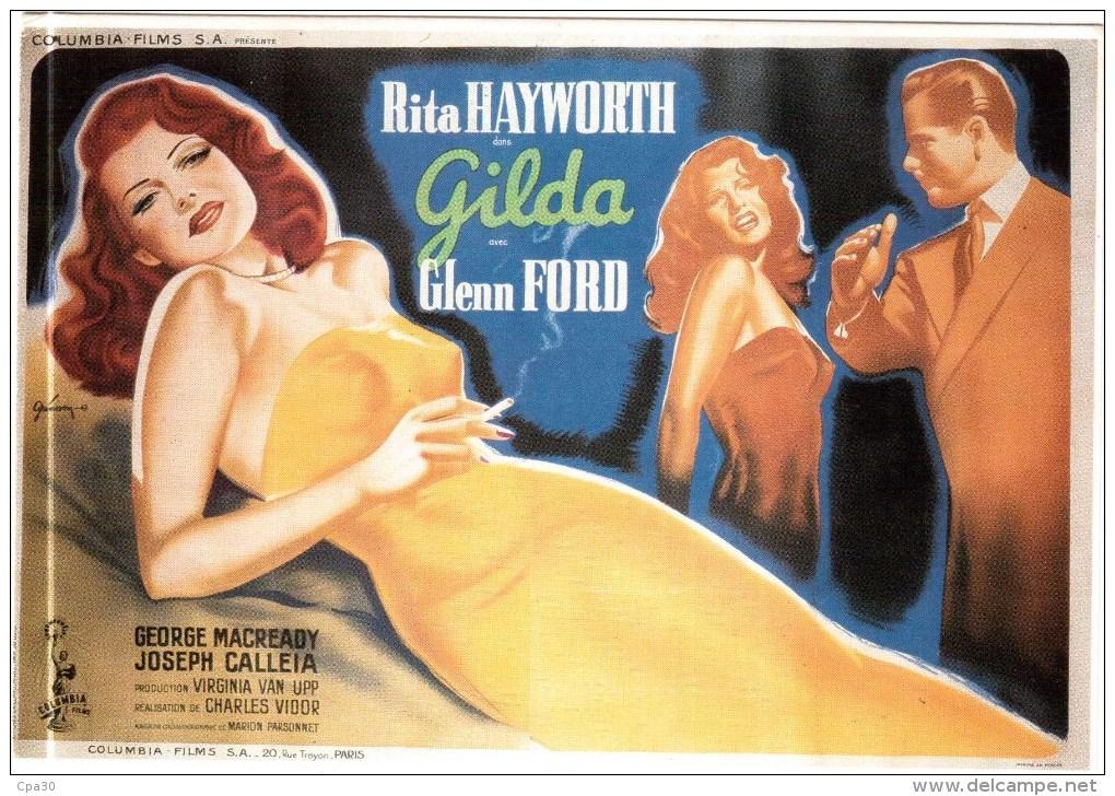CARTE POSTALE RITA HAYWORTH Et GLENN FORD Dans GILDA. Charles Vidor 1946 - France