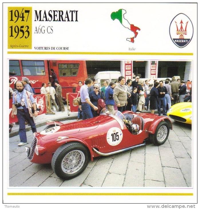 Maserati  A6G CS (Course)  -  1947  -  Fiche Technique Automobile (Italie) - Voitures