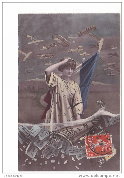 25251 Militaria Guerre 1914 14-18 France  -avion Souscription Nationale Aviation Militaire -yolande 745 - 1914-1918: 1ère Guerre