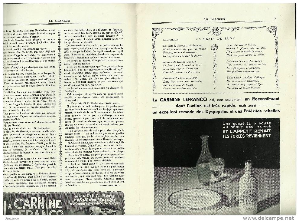 Le Glaneur Français Revue Littéraire 1932 Un Charmeur Tristan Bernard Tableau Dou La Femme Hydropique - Reise & Fun