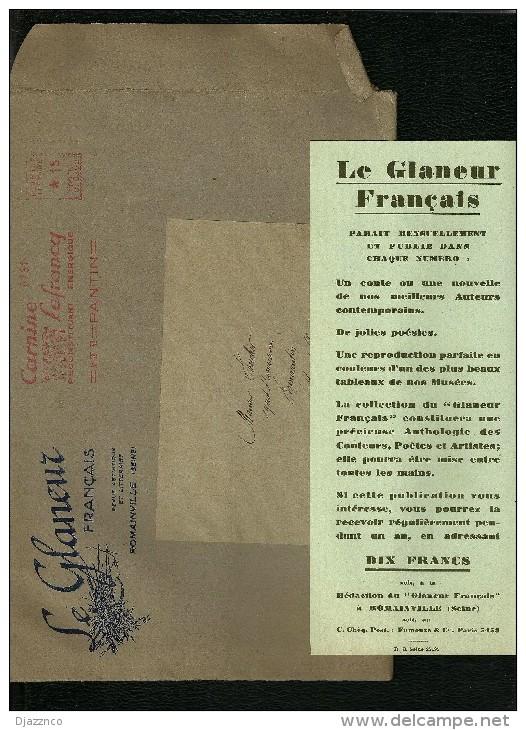 Le Glaneur Français Revue Littéraire 1932 Un Charmeur Tristan Bernard Tableau Dou La Femme Hydropique - Reizen En Ontspanning