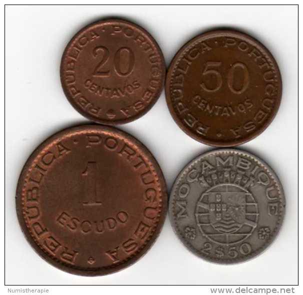 Mozambique Portugais : Série De 4 Pièces 20-50 Centavos & 1 Escudo & 2$50 : 1954-1965 - Mozambique