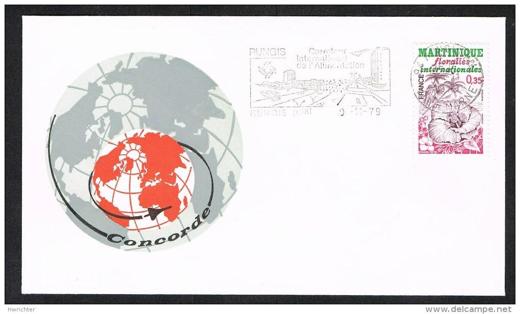 Concorde – Rungis/Frankreich 9.11.79 – Ersttagsstempel /Sonderstempel(359) - Antillen